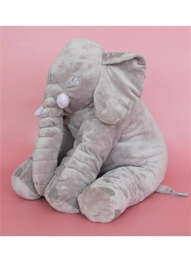 Sole Uyku Arkadaşım Peluş Fil - Büyük Yumuşacık (75 cm)-Sevgiliye HEDİYE Mavi